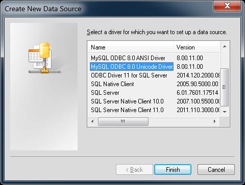 3.51 TÉLÉCHARGER ODBC MYSQL CONNECTOR