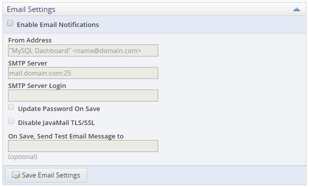 MySQL :: MySQL Enterprise Monitor 8 0 Manual :: 21 1 2 3 Email Settings