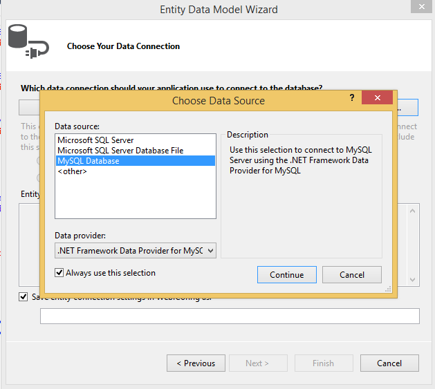 MySQL :: MySQL for Visual Studio :: 7 2 MySQL ASP NET MVC Items