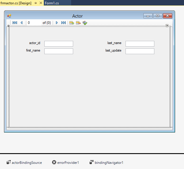 MySQL :: MySQL for Visual Studio :: 7.3 MySQL Windows Forms Items