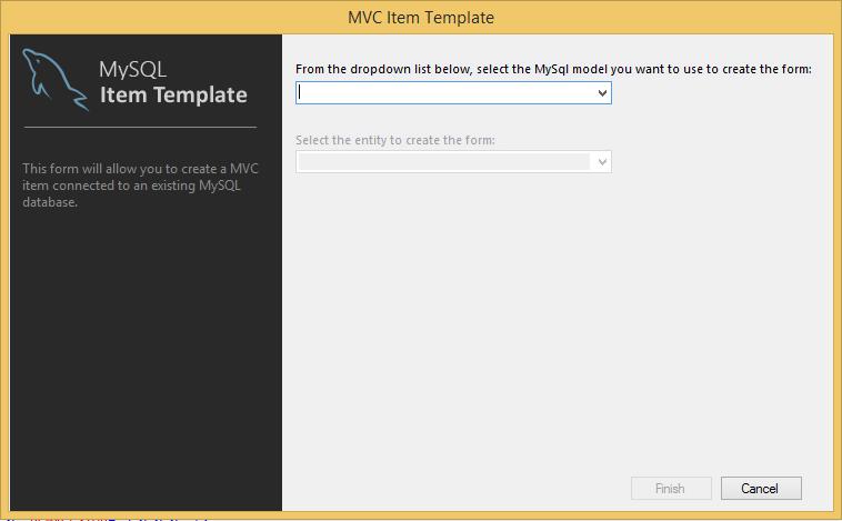 MySQL :: MySQL for Visual Studio :: 7 2 MySQL ASP NET MVC Items