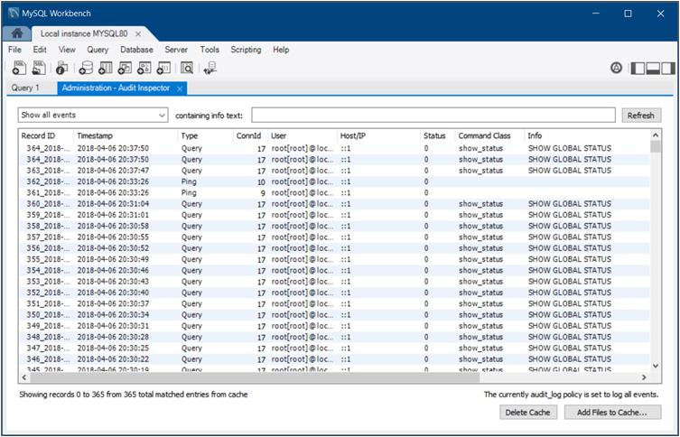 MySQL :: MySQL Workbench Manual :: 6 6 MySQL Audit Inspector