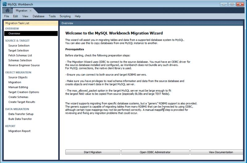 MySQL :: MySQL Workbench Manual :: 10 4 Microsoft Access