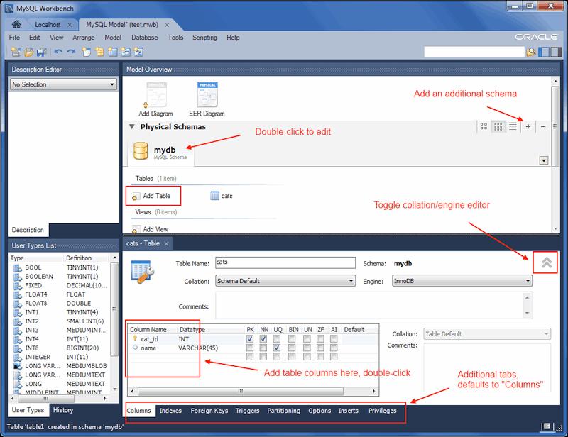 Mysql mysql workbench manual 9 3 4 1 creating a new table - Mysql create table example ...