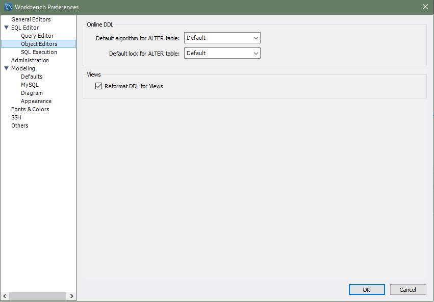 MySQL :: MySQL Workbench Manual :: 3 2 2 SQL Editor Preferences