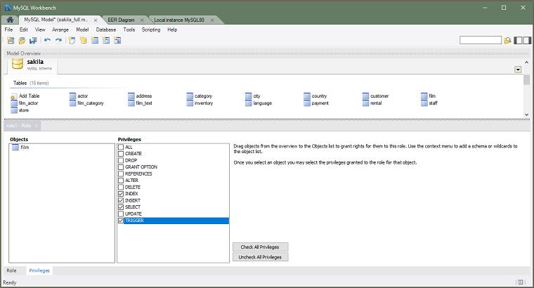 MySQL :: MySQL Workbench Manual :: 9 1 1 5 The Schema Privileges Panel