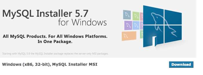 Download MySQL Installer 5.7